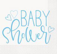 BLUE BABY SHOWER LUNCHEON NAPKIN 16 CT