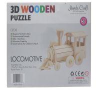 3D WOOD LOCOMOTIVE PUZZLE