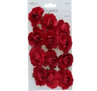 PAPER FLOWER MAROON 1.75 INCHES 12 COUNT