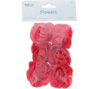 FOAM FLOWER RED 2 INCHES 6 COUNT XXX