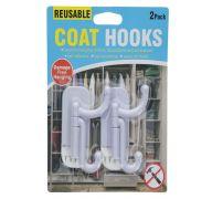 COAT HOOKS 2PK