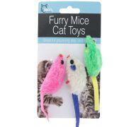 FURRY MICE CAT TOYS