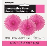 HOT PINK DECOR FAN